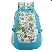 LCY Smart Organiser System Backpack Nappy Bag Light Blue Flowers
