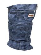 BB2 Large Solid Colour Wet/ Dry Water Resistant Travel Grab & Go Cloth Nappy Bag (Large - 50cm x 36cm , Jeans