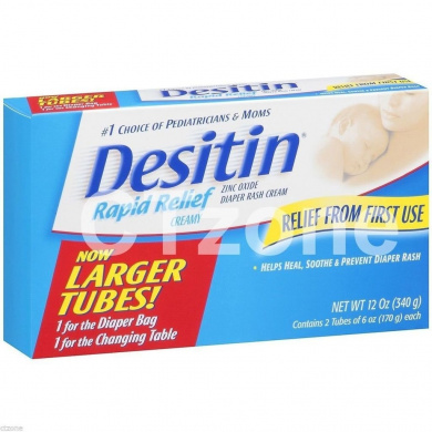 Desitin Rapid Relief Nappy Rash Cream 2 HUGE SIZE Tubes 350ml 340g Johnson Baby