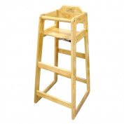 Winco CHH-601 Wooden 48cm x 50cm x 100cm Pub Height High Chair