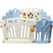 Kiddygem Puzzle and Beep Fun Baby 10 Panels Playpen, Blue