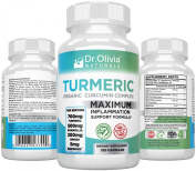 Organic Turmeric (Curcumin) Inflammation Complex by Dr. Olivia Naturals - A Supplement Precisely Formulated by a Clinical Nutritionist with Therapeutic Levels of Turmeric, Ginger, Boswellia & BioPerine®