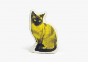 Areaware Siamese Cat Fauna Pillow, Yellow