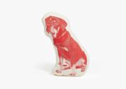 Areaware Rottweiler Fauna Pillow, Red