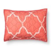 Threshold Geo Quilted Peach Cottage Pillow Sham