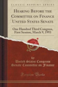 Hearing Before the Committee on Finance United States Senate