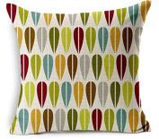 wendana Designer Colourful Pattern Linen Pillow Covers Beautiful Standard Home Decorative Pillow Cases 46cm x 46cm