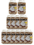4th of July Funny Beer Coolie Murica Bald Eagle Digital Camo 12 Pack Can Coolies