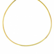14K Yellow Gold And Sterling Silver Two Tone Reversible 3mm Omega Chain 18""