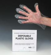 28cm Poly Gloves - Large (.9 mil) (100 Gloves) - AB-66-3-1756