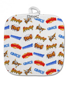 TooLoud Onomatopoeia All Over Print White Fabric Pot Holder Hot Pad All Over Print