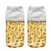 3D Printed Unisex Cute Low Cut Ankle Socks Multiple Colours Harajuku Style Beer