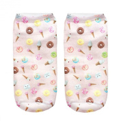 Fashion 3d Print Socks Jung Food Printing Casual Cute Charactor Women Men
