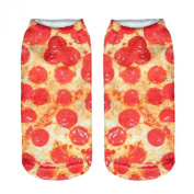3D Printed Unisex Cute Low Cut Ankle Socks Multiple Colours Harajuku Style Pizza