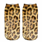 3D Printed Unisex Cute Low Cut Ankle Socks Multiple Colours Harajuku Panther Fur