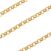 22K Gold Plated Slim Rolo Chain 2mm Bulk By The Foot