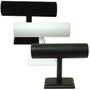 Small T Bar Display - white leatherette