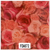 "Decopatch Decoupage Paper Mache ""Dusty Red Roses"" 572 F"