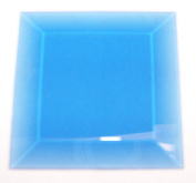 Stained Glass 3x3 Light Blue Square Bevels 6 Pack