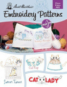 Aunt Martha's Clever Kitties Embroidery Transfer Pattern Book Kit by Colonial Patterns, Inc.