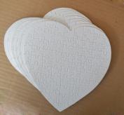 10pcs Heart Sublimation Jigsaw Puzzle