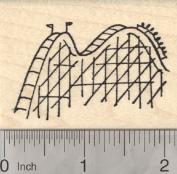 Roller Coaster Rubber Stamp, Flea Circus