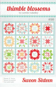 Swoon Sixteen Quilt Pattern, 41cm Blocks, Fat Quarter Friendly, Finished Size 190cm Square