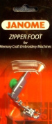 Janome Zipper Foot for memory Craft Emb Machines
