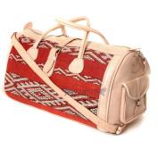 Moroccan Natural Leather Kilim Duffel Bag, Handmade Kilim Bag, Duffel Travelling Bag, Handcrafted Klim Shoulder Bag Carry on Bag Multipurpose Bag
