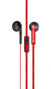 Urbanista Oslo Earphones with Remote and Mic - Retail Packaging - Red Snapper/Red