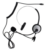 KENMAX® Call Centre Headset Headphone Hands-Free Desk Telephone Monaural Mic Mircrophone Noice Cancelling Silver