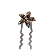 DoubleAccent Hair Jewellery Small Crystal Daisy Bun Stick - Available Other Colours