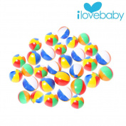 30 PCS Mini Inflatable Beach Ball Inflated and 23cm Deflated