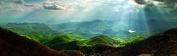 Glass Wall Art Acrylic Decor Carpathian Mountains, 5 Stars Gift Startonight 40cm X 120cm