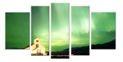 Glass Wall Art Acrylic Decor Aurora, 5 Stars Gift and a Contemporary Clock Startonight Set of 5 Total 90cm X 180cm