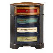 Stein World Furniture One Drawer Corner Door Chest, Red, Jade, Cream, Sage, Black