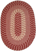 Plymouth 50cm x 80cm Braided Rug in Red