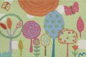 Jellybean Happiness Lane Indoor Outdoor Rug