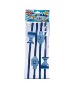 Rite-Lite Judaica Chanukah Straws with Draydels and Menorahs, Set of 4