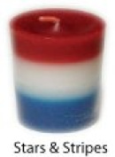 Trinity Candle Factory - Stars & Stripes - Votive Candle - Single