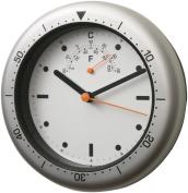 Bai Convertible Aquamaster Wall & Desk Clock, Silver