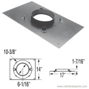 DuraVent 9040A Galvanised DuraPlus 15cm Class A Chimney Pipe Transition Anchor Plate - 43cm x 36cm