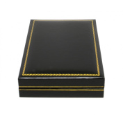 Novel Box® Jewellery Necklace Box in Black Leather (Carter Collection) + Custom NB Pouch