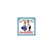"""Kiss the Cook, She's Swedish"" Decorative Wall Tile Swedish Gift Idea"