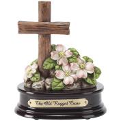 Cross and Dogwood - Old Rugged Cross Musical Figurine