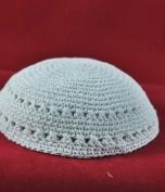 Kippah A white knitted cap 19 cm - white only
