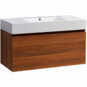 Virtu USA Zuri 100cm Single Bathroom Vanity Cabinet in Plum