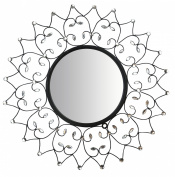 Lulu Decor, Web Wall Mirror, Decorative Metal Wall Mirror, Frame Size 70cm