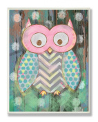 The Kids Room By Stupell Multi Colour Distressed Woodland Owl Designer Prints And Wall Art For Kids Room