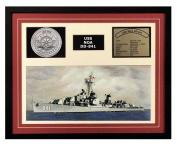 Navy Emporium USS Noa DD 841 Framed Navy Ship Display Burgundy